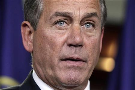 House Speaker John Boehner (R-OH) speaks  on Capitol Hill in Washington January 18, 2012.  REUTERS/Yuri Gripas