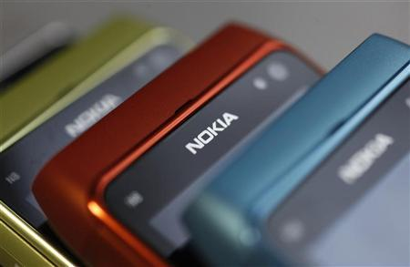 Picture shows Nokia mobile phone at a shop in Warsaw, January 26, 2012. REUTERS/Kacper Pempel