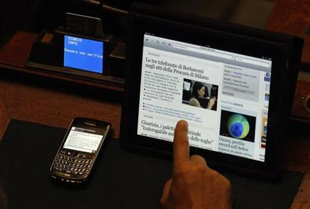 ... debate in the upper house of Parliament in Rome April 5, 2011. REUTERS