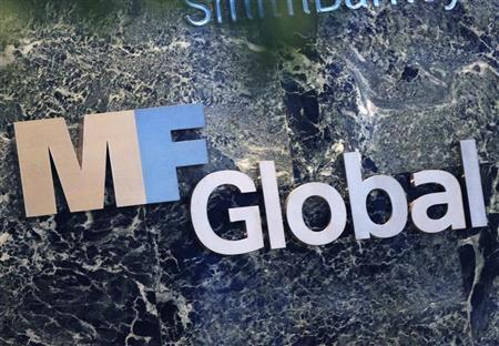 The sign marking the MF Global Holdings Ltd. offices in midtown Manhattan, New York,November 2, 2011. REUTERS/Shannon Stapleton