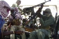 Somalia al-Shabaab insurgents  in the capital Mogadishu, Decemcer 27, 2008.    REUTERS/Omar Faruk