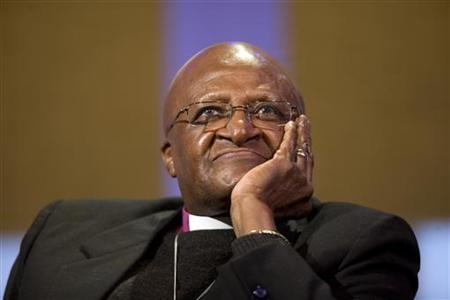 Archbishop Desmond Tutu in New York, September 21, 2011. REUTERS/Allison Joyce