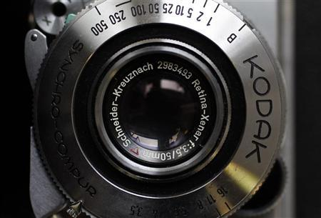 A Kodak Retina camera is seen in a photo store in London January 19, 2012.  REUTERS/Stefan Wermuth