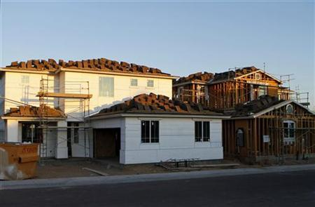 Houses under construction are seen in Phoenix, Arizona, August 23, 2011. REUTERS/Joshua Lott