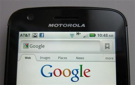 A Motorola Droid phone is seen displaying the Google search page in New York, August 15, 2011.   REUTERS/Brendan McDermid