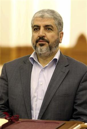 Hamas leader Khaled Meshaal attends a signing ceremony in Doha February 6, 2012. REUTERS/Stringer
