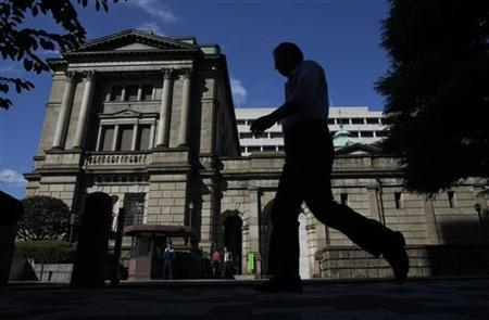 2月14日、日銀は13─14日に開いた金融政策決定会合で、資産買い入れ基金の増額による追加緩和策を決定した。写真は昨年10月撮影(2012年 ロイター/Yuriko Nakao)