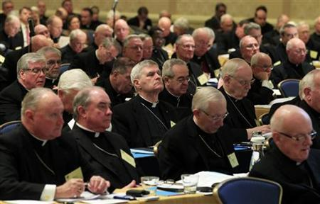 Bishops listen to proceedings during the United States Conference of Catholic Bishops in Baltimore, Maryland November 14, 2011. REUTERS/Kevin Lamarque