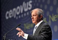 Brian Ferguson president and CEO of Cenovus Energy addresses shareholders at the company's annual general meeting in Calgary, Alberta, April 27, 2011. REUTERS/Todd Korol