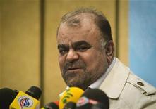 Иранский министр нефти Ростам Касеми на пресс-конференции в Тегеране 4 февраля 2012. Иран прекратил экспорт нефти в шесть европейских стран в ответ на санкции, сообщил в среду тегеранский англоязычный канал Press TV. Цены на нефть выросли после этого сообщения более чем на $2. REUTERS/Raheb Homavandi