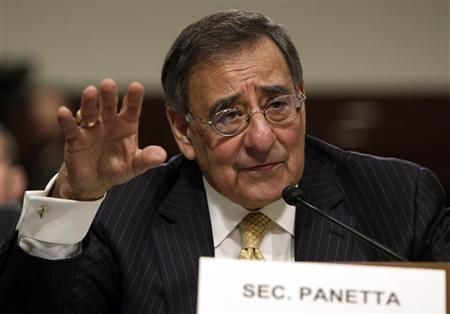 Secretary of Defense Leon Panetta testifies before the Senate Armed Services Committee hearing on the Defense Authorization Request for Fiscal Year 2013 and the Future Years Defense Program on Capitol Hill in Washington, February 14, 2012. REUTERS/Yuri Gripas