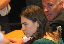 Amanda Knox during her appeal trial session in Perugia October 3, 2011. 