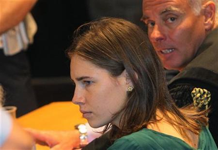 Amanda Knox during her appeal trial session in Perugia October 3, 2011. REUTERS/Giorgio Benvenuti