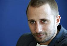 Belgian actor Matthias Schoenaerts poses for Reuters in Los Angeles February 10, 2012. REUTERS/Sam Mircovich