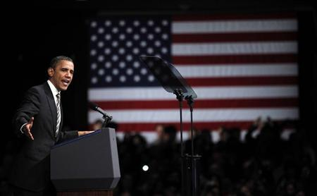 U.S. President Barack Obama speaks at a Democratic Party fundraiser in San Francisco, February 16, 2012. REUTERS/Jason Reed
