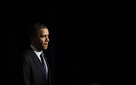 U.S. President Barack Obama is pictured during a Democratic Party fundraiser in Bellevue, February 17, 2012.   REUTERS/Jason Reed