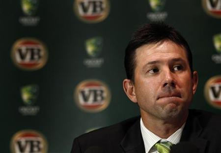 Australia's cricket captain Ricky Ponting pauses during a news conference on his arrival at Sydney airport March 27, 2011. REUTERS/Tim Wimborne