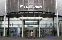 The Headquarters of Fresenius is pictured in Bad Homburg near Frankfurt February 24, 2010. REUTERS/Johannes Eisele (GERMANY - Tags: BUSINESS HEALTH)