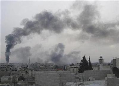 Assad forces bomb Syria's Homs