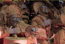 Carro alegórico da Unidos da Tijuca, a campeã do Carnaval 2012 do Rio de Janeiro com uma enredo sobre o cantor e compositor Luiz Gonzaga. 21/02/2012 REUTERS/Nacho Doce