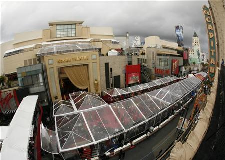 The Kodak Theater is seen during arrivals at the 80th annual Academy Awards in Hollywood February 23, 2008. The Oscars will be presented February 24, 2008. REUTERS/Lucy Nicholson