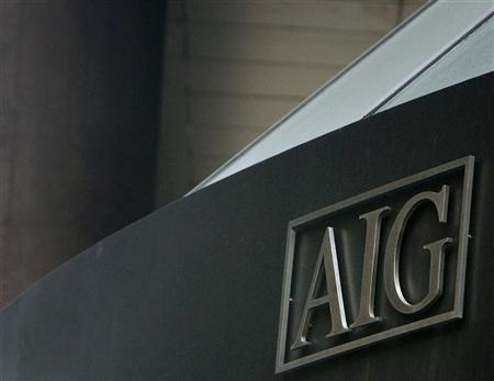 The American International Group (AIG) logo is seen on a building in New York's financial district March 16, 2009.   REUTERS/Brendan McDermid