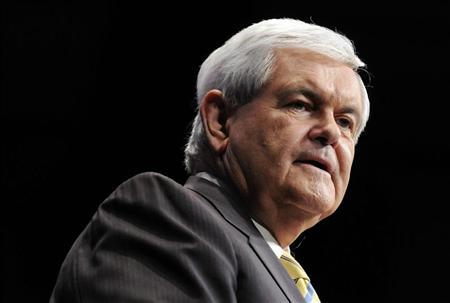 Republican U.S. presidential candidate Newt Gingrich (R-GA) speaks at the American Conservative Union's annual Conservative Political Action Conference (CPAC) in Washington, February 10, 2012.  REUTERS/Jonathan Ernst