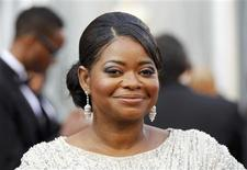 """Octavia Spencer, best supporting actress nominee for her role in """"The Help,"""" arrives at the 84th Academy Awards in Hollywood, California, February 26, 2012.  REUTERS/Lucy Nicholson"""