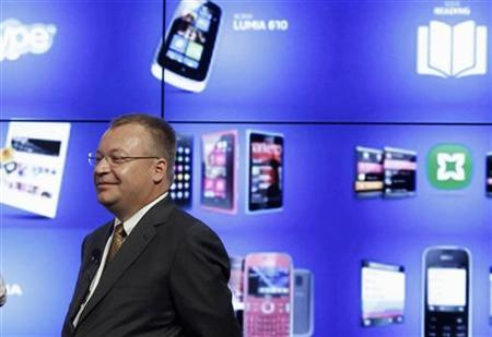 Nokia's President and CEO Stephen Elop attends a news conference during the Mobile World Congress in Barcelona February 27, 2012. REUTERS/Gustau Nacarino