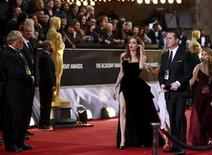 Angelina Jolie arrives at the 84th Academy Awards in Hollywood, February 26, 2012.   
