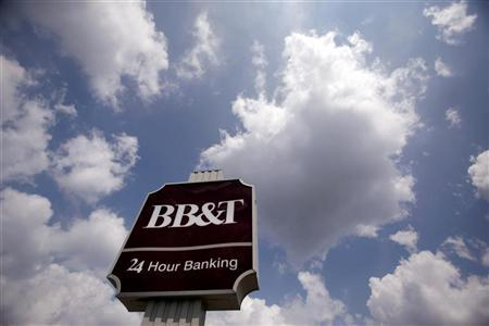 A BB&T bank branch sign is seen in Arlington, Virginia, August 14, 2009. REUTERS/Jim Young
