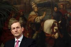Ireland's Prime Minister Enda Kenny looks during a meeting with his Italian counterpart Mario Monti at the Chigi Palace in Rome February 24, 2012. 