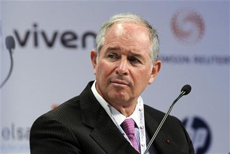 Blackstone Group co-founder Stephen A. Schwarzman attends the eG8 forum in Paris May 25, 2011. REUTERS/Gonzalo Fuentes