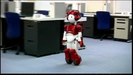 Video screenshot of Hitachi's robot EMIEW2 obtained on February 29, 2012. REUTERS/Video