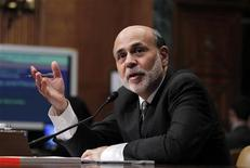 U.S. Federal Reserve Chairman Ben Bernanke testifies before a Senate Budget Committee hearing on the outlook for the U.S. Monetary and Fiscal Policy on Capitol Hill in Washington, February 7, 2012.   REUTERS/Jason Reed