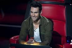 "Adam Levine in an episode of ""The Voice"". 