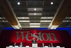 Chairman and President of George Weston Limited W. Galen Weston speaks during their annual shareholders meeting in Toronto, May 12, 2011.  REUTERS/Mark Blinch