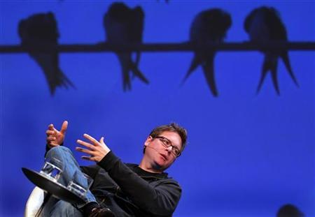 Biz Stone, co-founder of Twitter, speaks at the Charles Schwab IMPACT 2010 conference in Boston, Massachusetts October 28, 2010. REUTERS/Adam Hunger