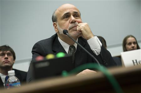 Fed Chairman Ben Bernanke testifies about monetary policy before the House Financial Services on Capitol Hill, February 29, 2012.  REUTERS/Jonathan Ernst