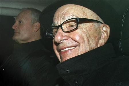 News Corp Chief Executive and Chairman Rupert Murdoch arrives in central London, February 16, 2012. REUTERS/Stefan Wermuth