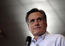 Republican presidential candidate and former Massachusetts Governor Mitt Romney speaks at a campaign rally at Cleveland State University in Cleveland, Ohio March 2, 2012.   REUTERS/Brian Snyder