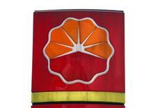 Логотип PetroChina на АЗС компании в Пекине, 25 марта 2010 г. Китайская нефтегазовая компания PetroChina не увеличит закупки российской нефти по трубопроводу Восточная Сибирь-Тихий океан (ВСТО), несмотря на уступки по цене, сообщил глава компании Цзян Цземинь. REUTERS/David Gray