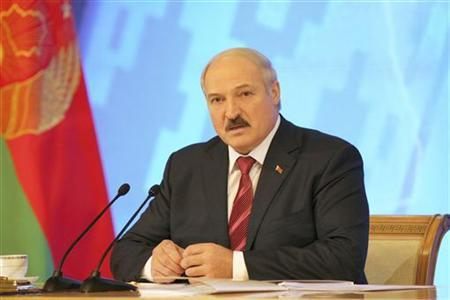 Belarussian President Alexander Lukashenko speaks during a news conference in Minsk December 23, 2011. REUTERS/Nikolai Petrov/BelTA/Handout