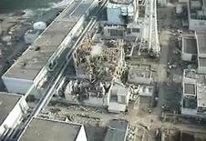 TEPCO's crippled Fukushima Daiichi Nuclear Power Plant No. 3 reactor in Fukushima prefecture on April 10, 2011.   