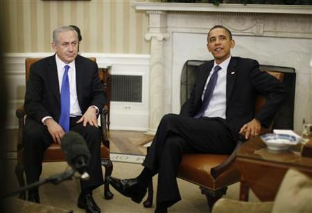 President Obama meets with Israel's Prime Minister Benjamin Netanyahu in the Oval Office, March 5, 2012.   REUTERS/Jason Reed