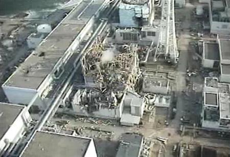TEPCO's crippled Fukushima Daiichi Nuclear Power Plant No. 3 reactor in Fukushima prefecture on April 10, 2011.   REUTERS/Tokyo Electric Power Co
