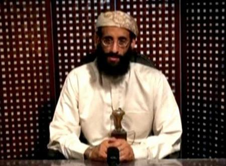 Anwar al-Awlaki, a U.S.-born cleric linked to al Qaeda's Yemen-based wing, gives a religious lecture in an unknown location in this still image taken from video released by Intelwire.com on September 30, 2011. REUTERS/Intelwire.com