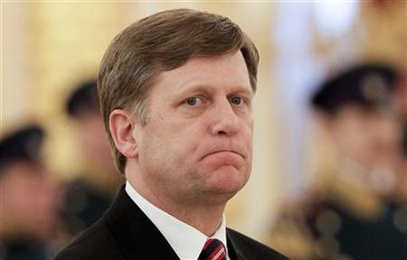 New American Ambassador Michael McFaul looks on during an official ceremony to present his diplomatic credentials in Moscow's Kremlin February 22, 2012. REUTERS/Denis Sinyakov