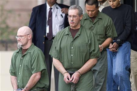 Allen Stanford leaves the Federal Courthouse where the jury found him guilty, in Houston, March 6, 2012.    REUTERS/Richard Carson
