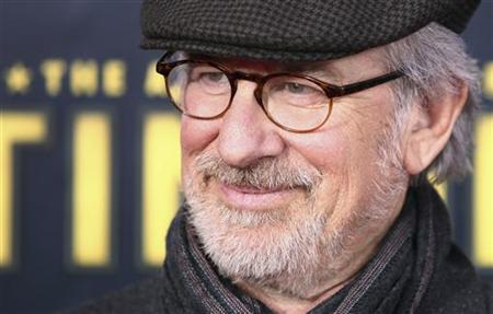 Director Steven Spielberg arrives for the premiere of the movie ''The Adventures of Tintin'' in New York December 11, 2011. The movie will open in the U.S. on December 21. REUTERS/Carlo Allegri